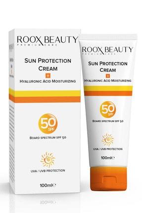 Roox Beauty Güneş Kremi Spf 50 - Yüksek Koruma - Leke Karşıtı - Aile Boyu 100 ml