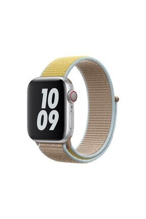 Mİ PARS ONLİNE Apple Watch 1-2-3-4-5-6-se Serisi ( 38mm - 40mm ) Uyumlu Dokuma Spor Loop Kordon