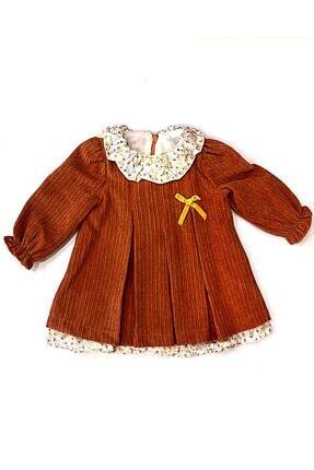 Mymio 3201 Kadife Pilikase Kız Bebek Elbise