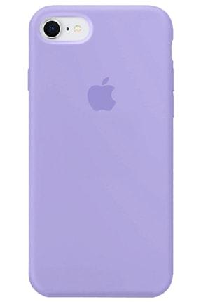 Apple Iphone 7 Kılıf Logolu Lansman Altı Kapalı Içi Süet - Lila + Popsocket