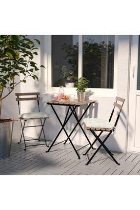 IKEA Tarnö Katlanabilir Bahçe Balkon Masası Ve Sandalye Seti