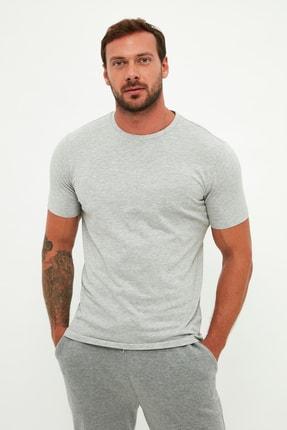 MANGO Man Erkek Gri T-Shirt 53900530