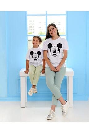 EYLÜL ELİF BUTİK Eylul Elif Butik Mickey Mouse Tshirt Yetişkin Çocuk Kombinler (anne - Çocuk Ayrı Satılmakta)