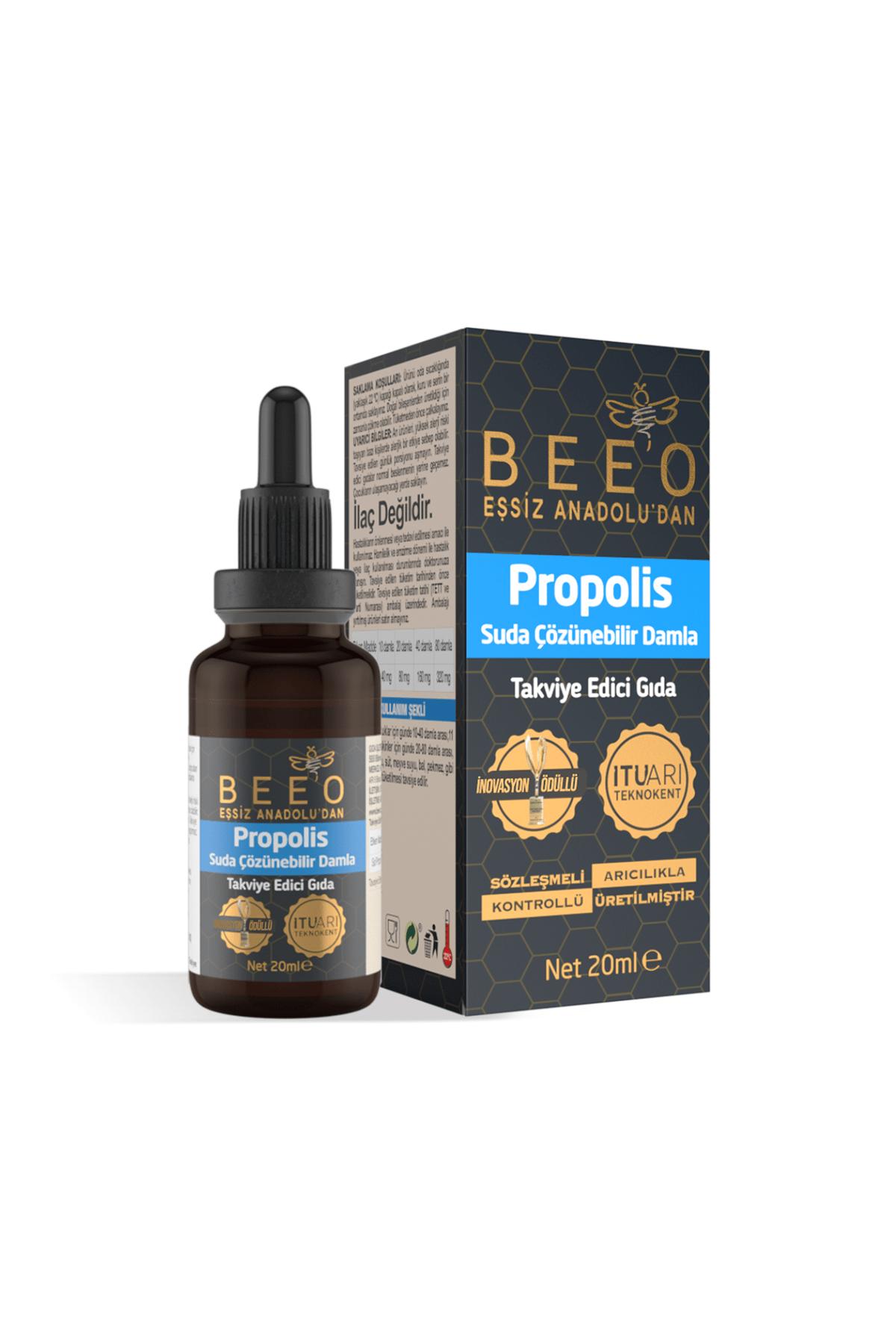 BEE'O Suda Çözünür Propolis Damla 20 ml