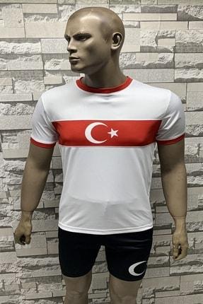 Fs Erkek Milli Takım Türkiye Beyaz Kırmızı Forma Tişörtü