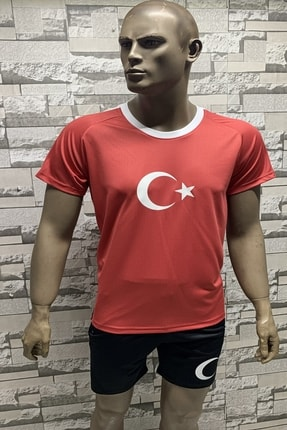 Fs Milli Takım Forma Erkek Forma Türkiye Tişört Kırmızı Beyaz