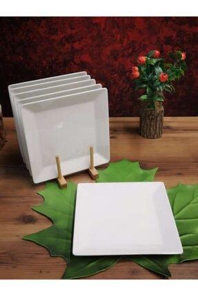 Güral Porselen 24cm Kare Servis Tabağı 6 Adet