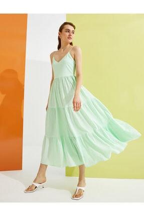 Koton Kadın Yeşil Desenli Elbise
