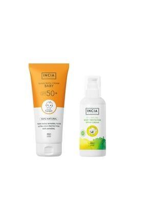 Incia Güneş Seti Çocuk Spf 50 Sun Cream + 100 ml Vücut Spreyi