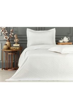 Madame Coco Aida Çift Kişilik Yatak Örtüsü - Beyaz