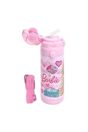 Frocx Pembe Lisanslı Barbie Paslanmaz Çelik Suluk Matara 500 ml 44042