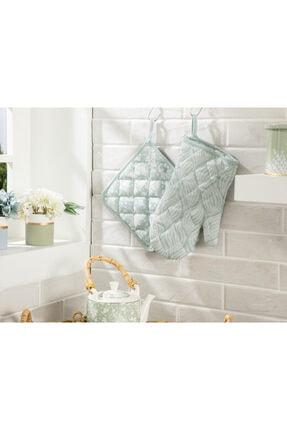 English Home Chervil Polyester 2'li Mutfak Seti 20x20 - 19x30 Cm Yeşil