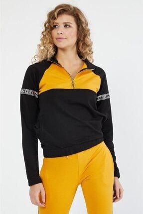Koza Butik Kol ve Bacakları Sim Şeritli Yarı Fermuarlı Eşofman Takımı 8596