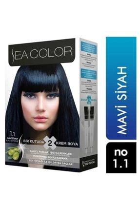 Sea Color Saç Boyası Mavi Siyah 1.1