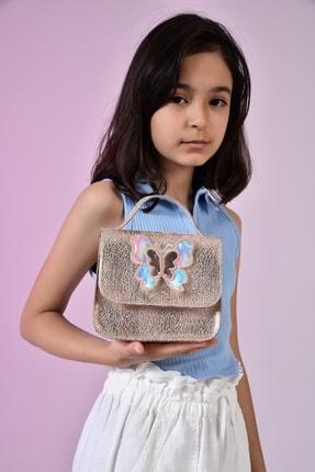 ICONE BAG Icone Kız Çocuk Cırt Kapamalı Kelebek Detaylı Omuz Çantası