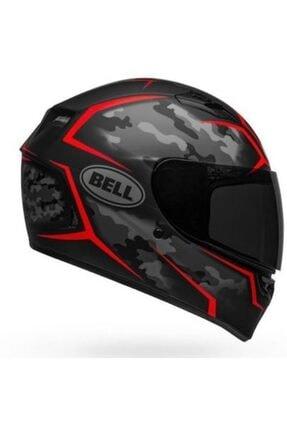 Bell Stealth Camo Matte Black - Red Motosiklet Kaskı Kapalı