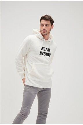Bad Bear Erkek Bear Kırık Beyaz Peluş