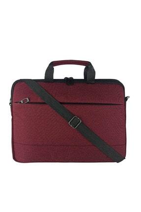 Beutel Unisex 13-13.3-14 Inç Uyumlu Su Geçirmez Macbook Notebook Laptop Çantası - Ok- Bordo