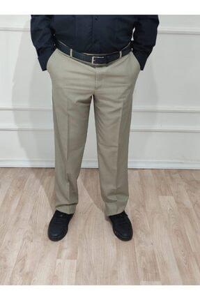 nacar çarşı Erkek Klasik Kesim Toprak Rengi Kumaş Pantolon