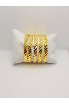 yılmaz gold 24 Ayar Saf Altın Kaplama Duble Adana Burma Imitasyon Bilezik
