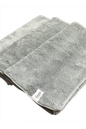 Mikrofiberim (3 ADET) Mikrofiber Çift Yüzlü Oto Kurulama Ve Yer Temizlik Bezi 40x60 440gsm - Gri