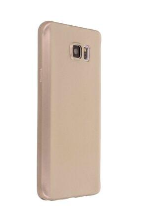 Samsung Galaxy Note 5 Kılıf Soft Yüzeyli Yıkanabilir Silikon Arka Kapak - Gold