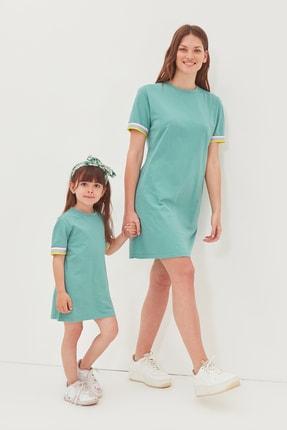 TRENDYOLMİLLA Mint Şerit Detaylı Örme  Elbise TWOSS19FV0107