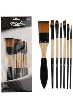 Cenova Art Rich Set 1 - Akrilik Ve Yağlı Boya Fırçası 7'li Set