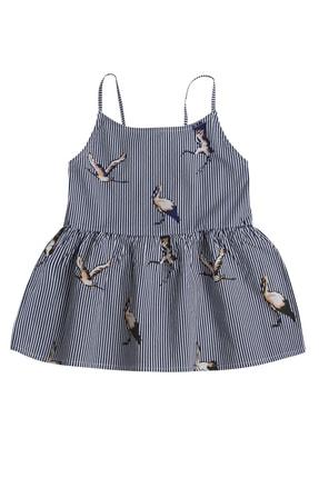 Çikoby Kız Çocuk Çizgili Desen Askılı Bluz 7-14 Yaş Pk21s507-2806