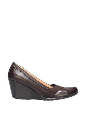 İnci Hakiki Deri Kahverengi Kadın Dolgu Topuklu Ayakkabı 120130009804