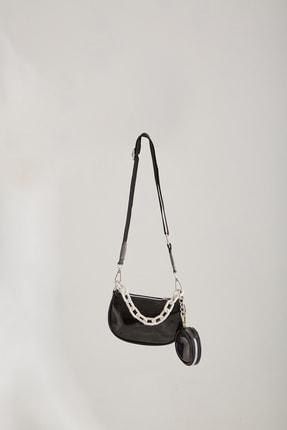 hoQuspoQus Kız Çocuk Aksesuar Zincir Detaylı Çanta (siyah-beyaz)