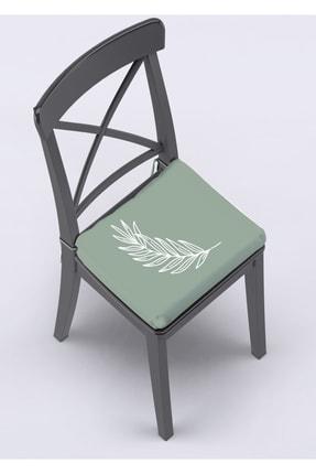 Pilloveland Çevir Kullan Sandalye Minderi Pastel Yaprak Desenli 40*40 cm
