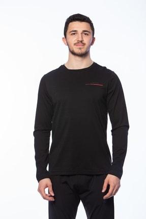 Lotto T-Shirt Siyah Erkek-LOGO SPORT TEE BS LS CO