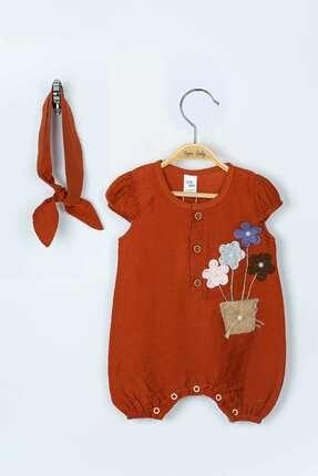 Teym Baby Kız Bebek 2'li Bandanalı Tulum