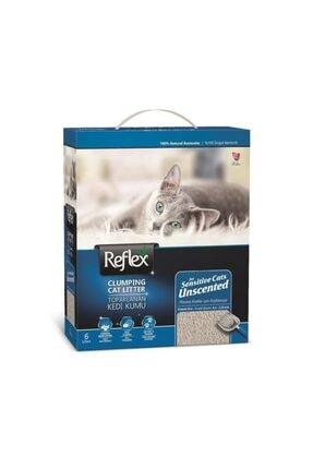 Reflex Hassas Kediler Için Parfümsüz Doğal Kedi Kumu