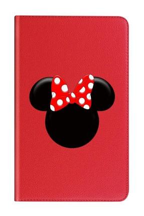 Apple Ipad 10.2 (8.nesil) Uyumlu   Kılıf 360 Dönebilen Standlı Deri - Miss Mickey