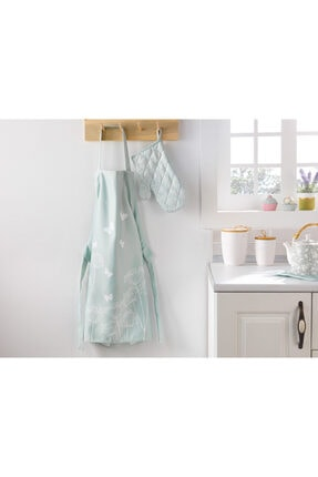 English Home Chervil Polyester Ayarlanabilir Mutfak Önlüğü 65x75 Cm Yeşil