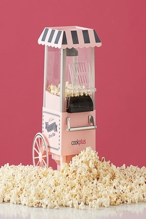 Cookplus Pembe Mısır Patlatma Pop Corn Makinesi