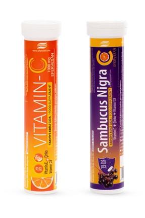Phytodef Sambucus Nigra Vitamin C Çinko D3 20 Efervesan ve Vitamin C Çinko Vitamin D3 20 Efervesan