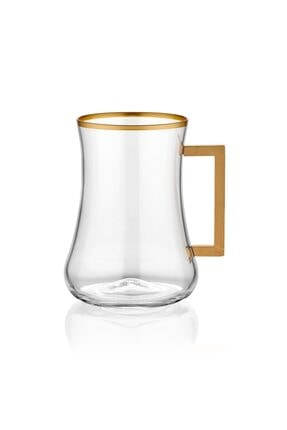 Koleksiyon1 Koleksiyon Dervish Çay Brd St 6lı Mat Altın Kare Kulp Çay Bardağı