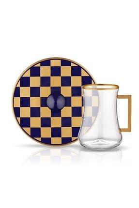 Koleksiyon1 Koleksiyon Dervish Kulplu Çay St 6lı Dama Kobalt Altın
