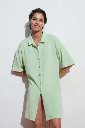 Oysho Havlu Kumaşlı Uzun Gömlek