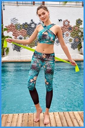 Berrak Sporcu Tayt Takım - Fitness Yoga Plates Spor Taytı Ve Büstiyeri