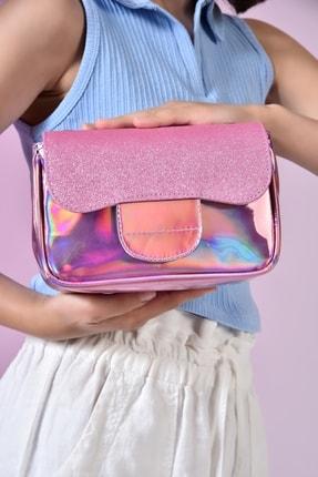 ICONE BAG Kız Çocuk Cırt Kapamalı Hologramlı Omuz Çantası