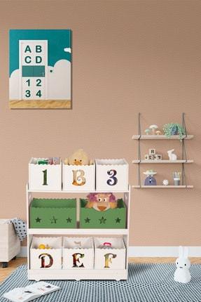 MONTESEV Oyuncak Kutusu Sepeti Dolap Dolabı Çok Amaçlı Kutu Sandık Çocuk Bebek Odası Ahşap Montessori