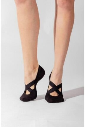 Dore 2'li Paket Kadın Siyah Yoga & Plates ve spor Çorabı