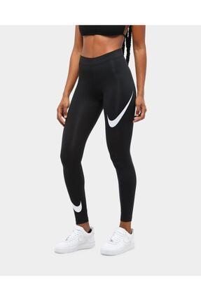 Nike Siyah Kadın Spor Tayt - Kadın Sportswear Leg-a-see Swoosh Tayt - Db3896-010