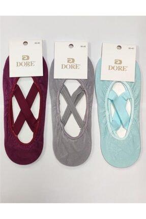 Dore 3 Çift Kaydırmaz Pilates Dans Yoga Çorabı