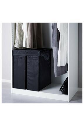 IKEA Skubb Çamaşır Sepeti Siyah 80 Litre