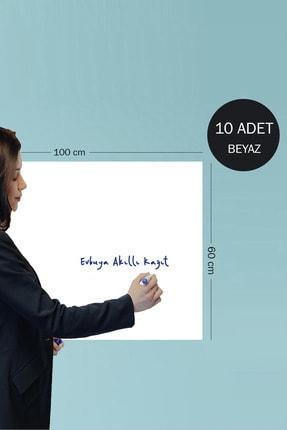 Evbuya 10 Adet 60 Cm X 100 Cm Beyaz Yapışkansız Manyetik Akıllı Kağıt Yazı Tahtası Folyosu